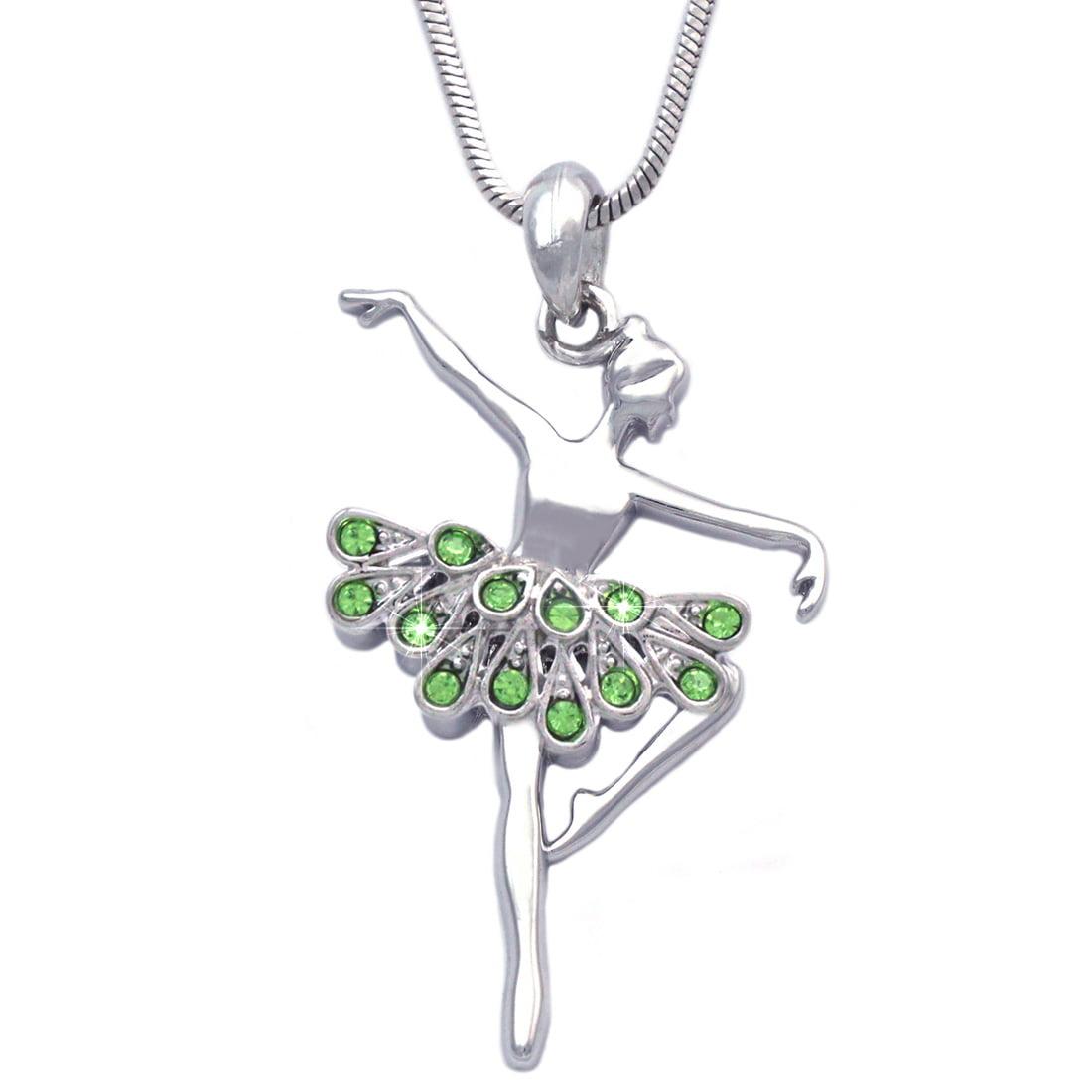cocojewelry Ballerina Ballet Dancer Dancing Girl Pendant Necklace Jewelry