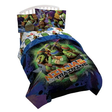 Nickelodeon Teenage Mutant Ninja Turtles Mean Green Microfiber Twin Sheet - Teenage Mutant Ninja Turtles Pillow Case