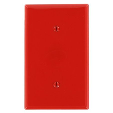 - Leviton 80719-R Red Nylon Single Gang Blank Strap Mount Wall Plate