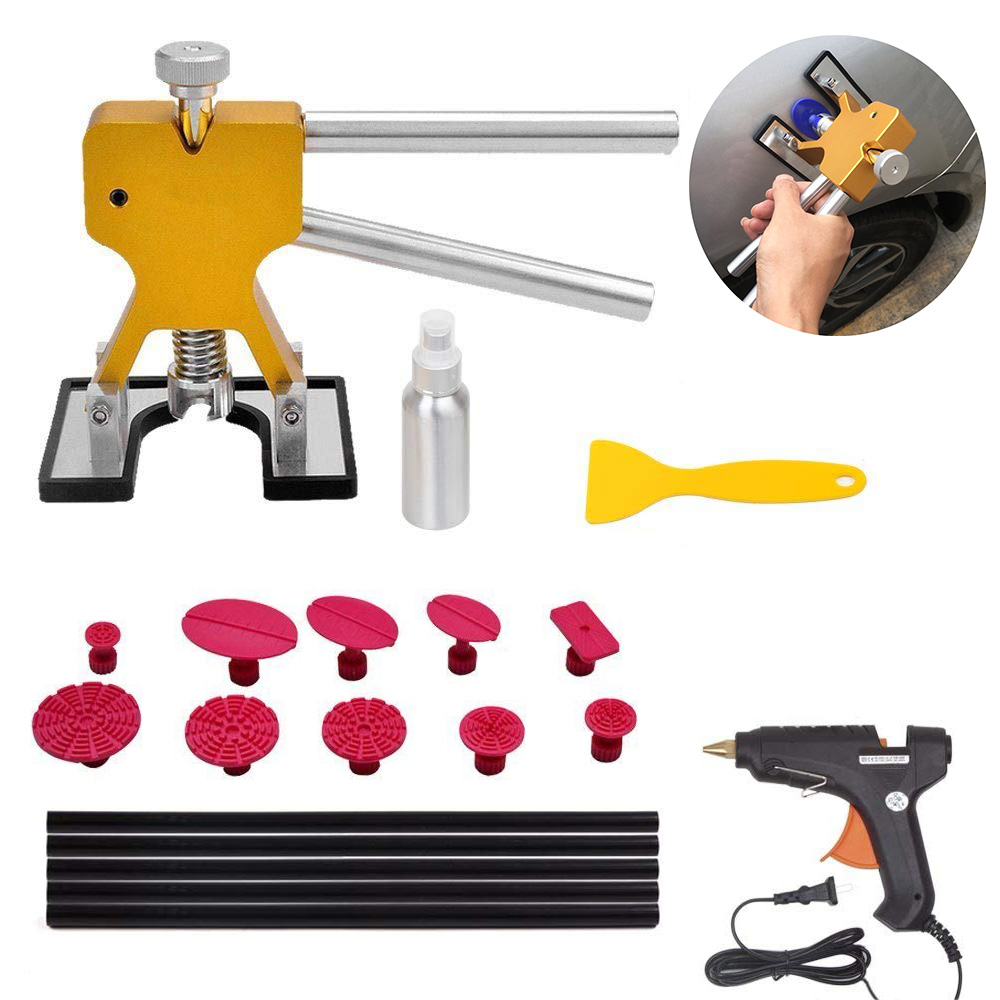 Paintless Dent Removal Tools Repair Puller Kits Pops a Car Remover + 10pcs Pulling