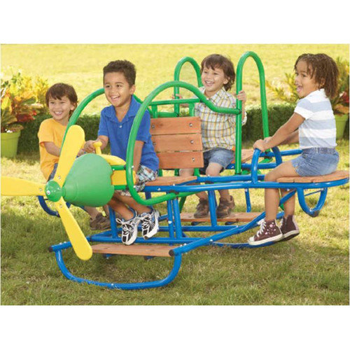Swing Town Airplane 4 Seat Teeter Totter