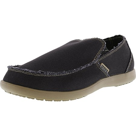 crocs mens santa cruz black khaki ankle high canvas slipper 13m walmartcom