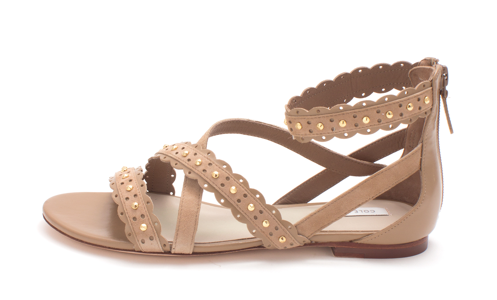 Cole Haan Womens Andrasam Open Toe Casual Strappy Sandals, Tan, Size 6.0