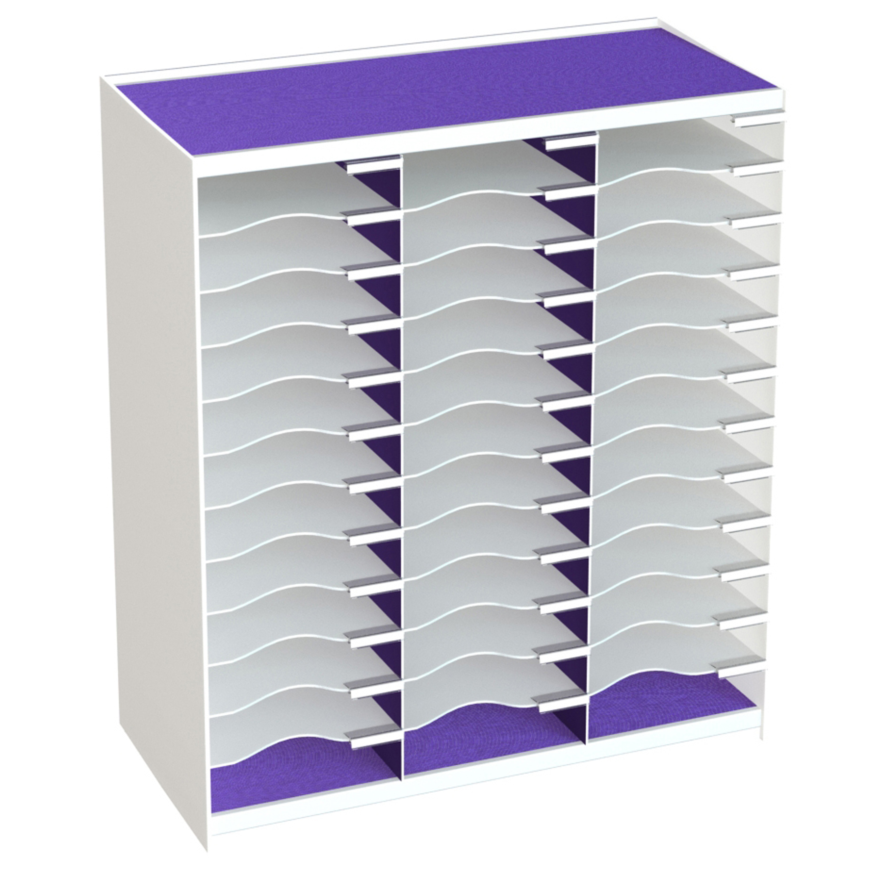 Paperflow Master Literature Organizer, 36 Compartment, White Purple (803.13.19) by Paperflow
