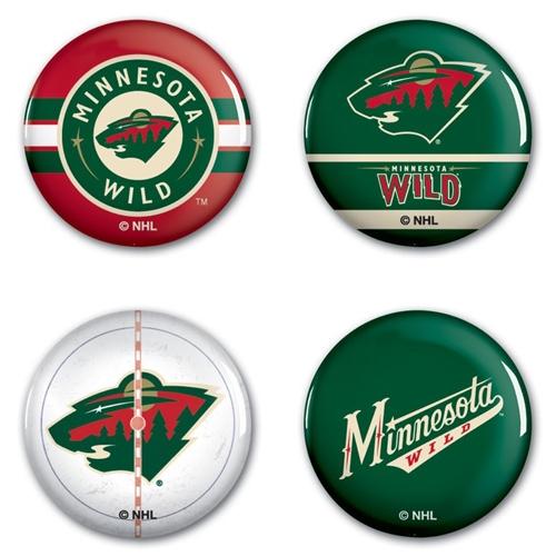 Minnesota Wild WinCraft 4-Pack Button Set - No Size