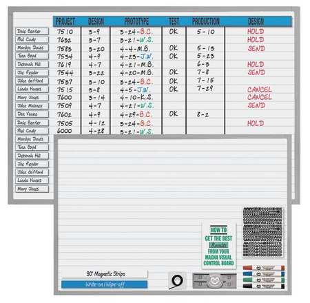 Magna Visual Magnetic Changeable Planner Kit,36x48 NMW-3648G