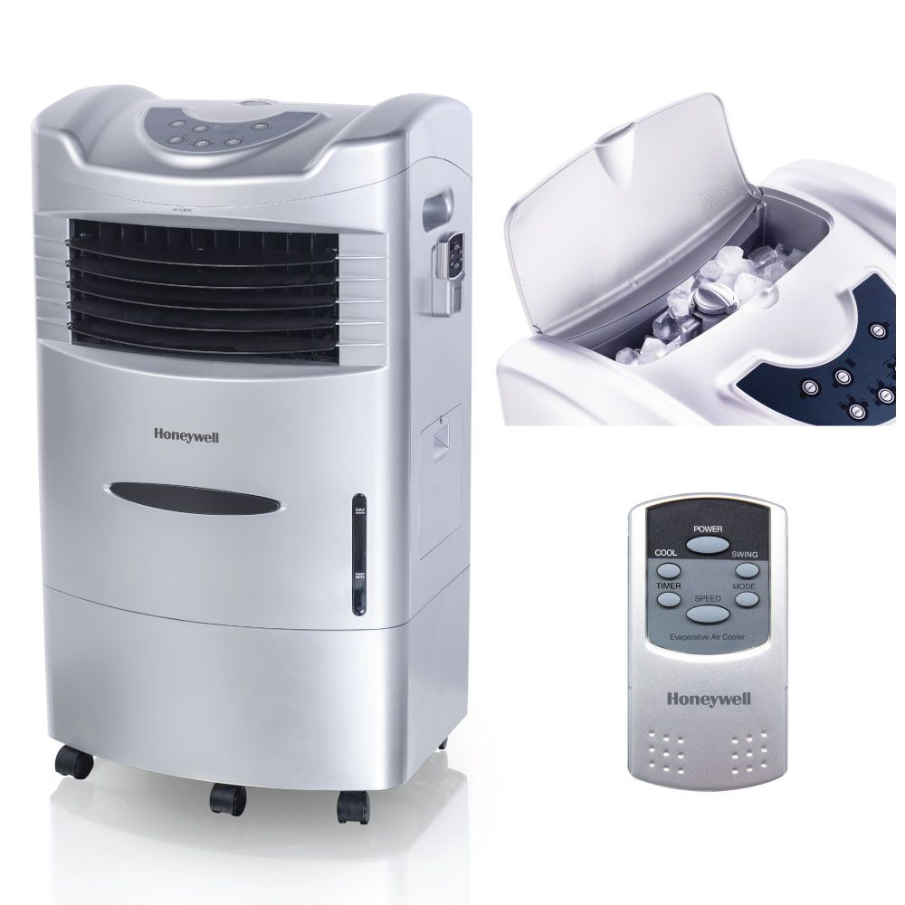Honeywell 470 CFM Indoor Evaporative Air Cooler (Swamp Cooler) with Remote Control in