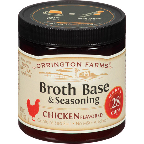 Orrington Farms Chicken Flavored Broth Base & Seasoning, 6 oz, (Pack of 6)