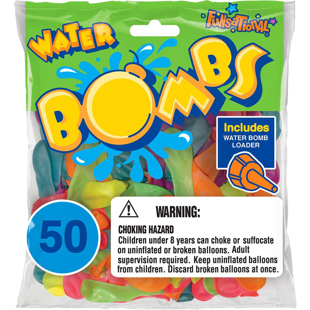 Water Bombs Balloons (50 Pack) - Party Supplies