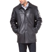 BGSD Men's Samuel New Zealand Lambskin Leather Car Coat (Big & Tall sizes)