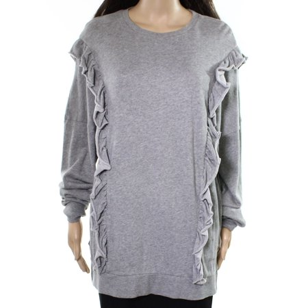 Abound Womens Large Ruffled Crewneck Pullover sweater $28