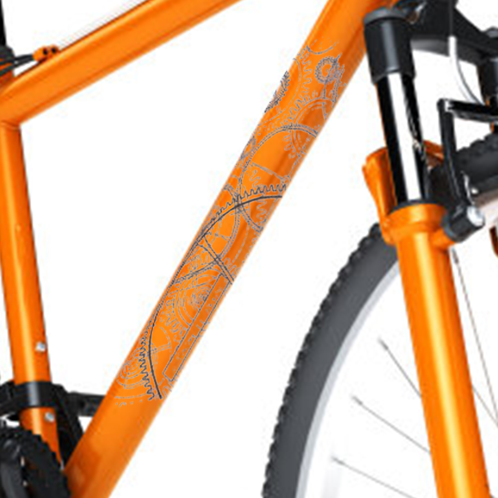 MTB Bike Frame 3D Protection Film Anti-Scratch Stickers Waterproof Transparent #
