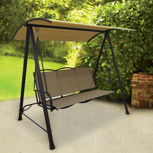 Mainstays Classic Sling Swing, Tan, Seats 3