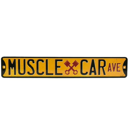 Muscle Car Decor (Muscle Car Ave. Embossed Street Tin)