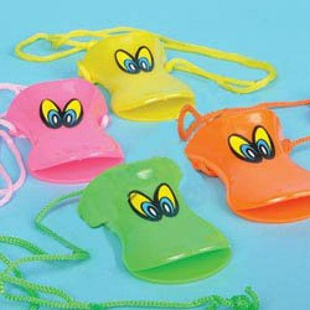 Multicolor Duck Call Whistles - One Dozen (12)