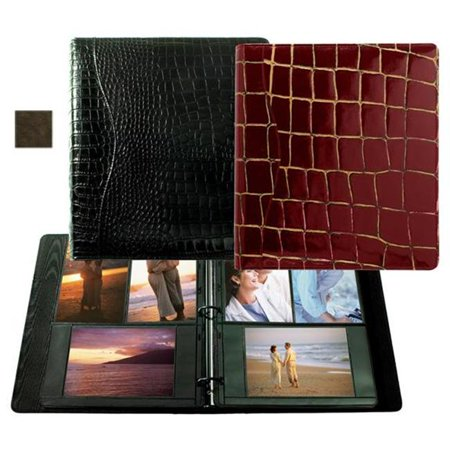 Raika VI 161 BROWN 8in. x 11in. Combination Ring Binder Photo Album - Brown