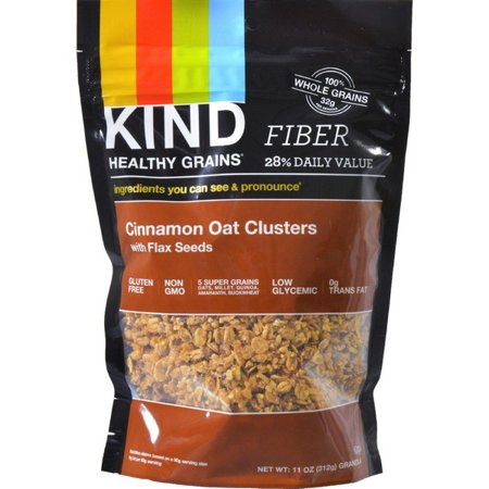Flax Seed Gluten Free - Kind Healthy Grains Cinnamon Oat Clusters With Flax Seeds - 11 Oz - Pack of 6