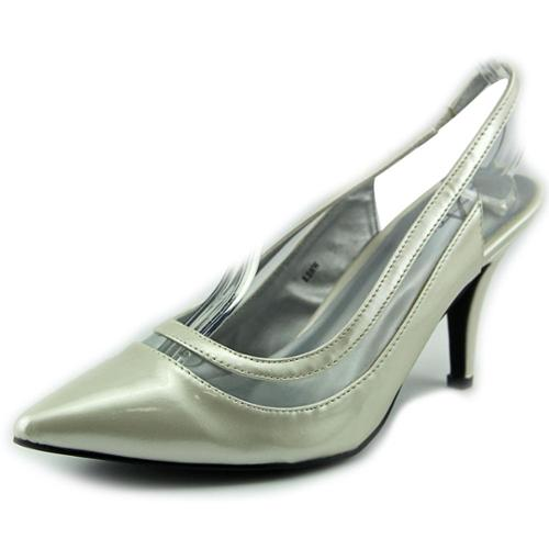 Annie Shoes Diplomat Women US 8.5 WW Ivory Slingback Heel