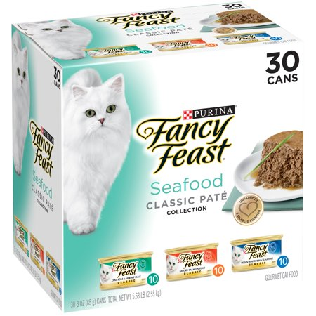 Purina Fancy Feast Classic Seafood Feast Collection Cat Food 30 3 Oz  Cans