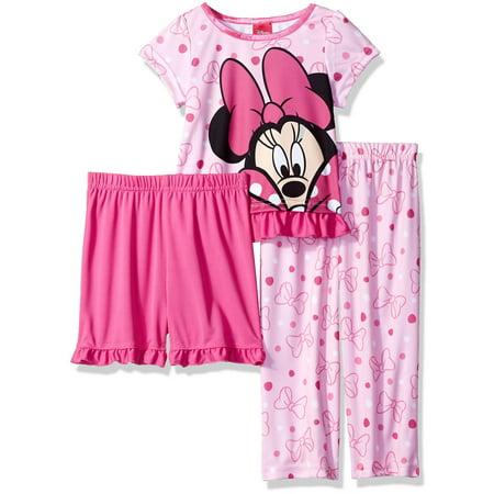 a2d6b05c128d 3 Piece Girls Toddler Minnie Mouse Pajama Set