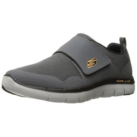 Charcoal Grey Flex Advantage 2.0 Gurn Skech Knit Shoes