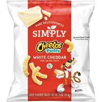 Simply Cheetos Puffs White Cheddar Cheese Flavored Snacks, 0.875 oz Bags, 36 Count