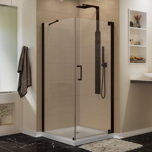 "DreamLine SHEN-4130300 Elegance 72"" High x 30"" Wide x 30"" Deep Pivot Frameless S"