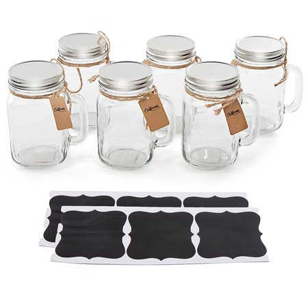 Vintage Mason Jar Mugs with Chalkboard Labels for Weddings Party Favors Parties (Halloween Crafts With Mason Jars)