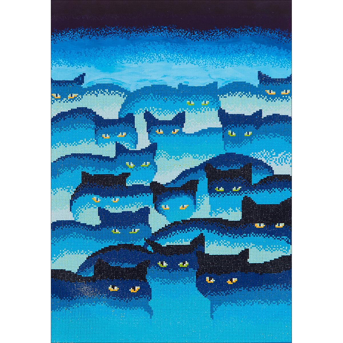 """Diamond Dotz Diamond Embroidery Facet Art Kit, 31.5"""" x 25"""", Smokey Mountain Cats"""