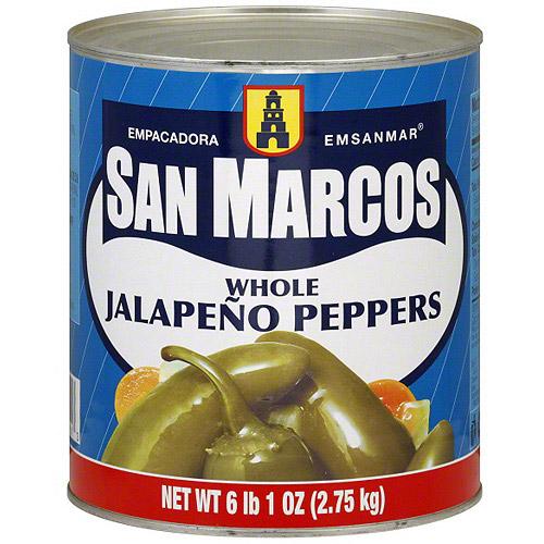 Empacadora San Marcos Whole Jalapeno Peppers, 73 oz (Pack of 6)