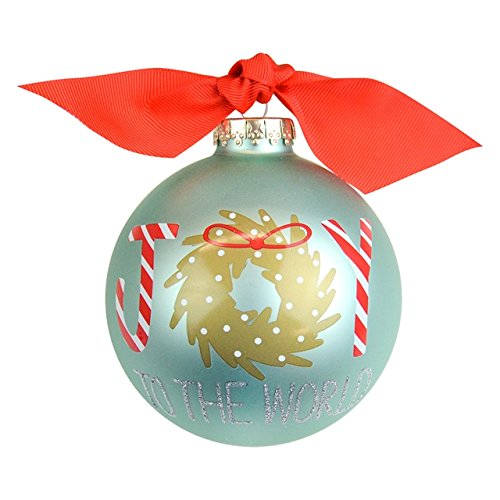 Coton Colors Joy to the World Wreath Glass Ornament