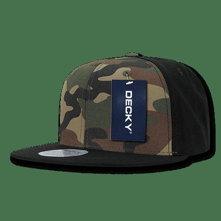 Decky Camouflage Flat Bill Hats Hat Caps Cap Cotton Snapback For Men Women  Black Woodland Black - Walmart.com 8d5727aad149