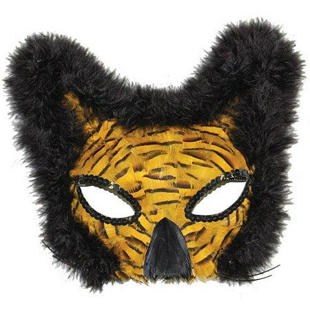 Feather Gold Lion Mask Adult Halloween - Halloween Makeup Masks