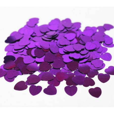 14g Purple Heart Confetti Table Party Decorations Anniversary Wedding Birthday - 25 Wedding Anniversary Decorations