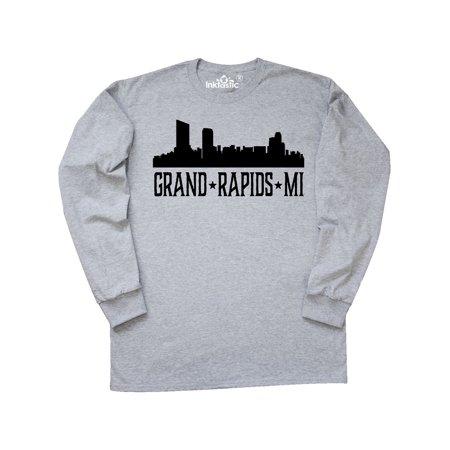Grand Rapids Michigan City Skyline Long Sleeve T-Shirt - Halloween City Grand Rapids