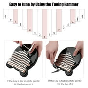 Muslady 17-Key Thumb Piano Black Acrylic Kalimba Mbira Musical Instrument with Carrying Case Tone Stickers Tuning Hammer Finger Protector Padding Wipe Cloth