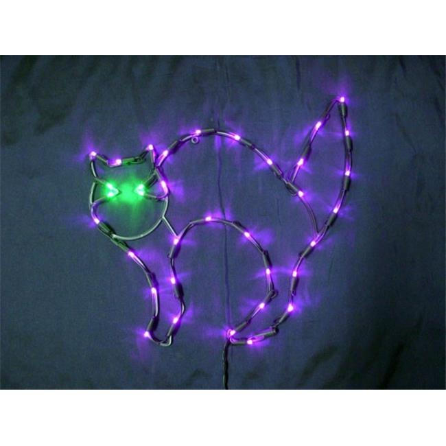 Queens of Christmas LED-35LCAT-18 LED-35LCAT-18-UL 35 lights 18'' LED outdoor window cat decor, 24'' lead wire.