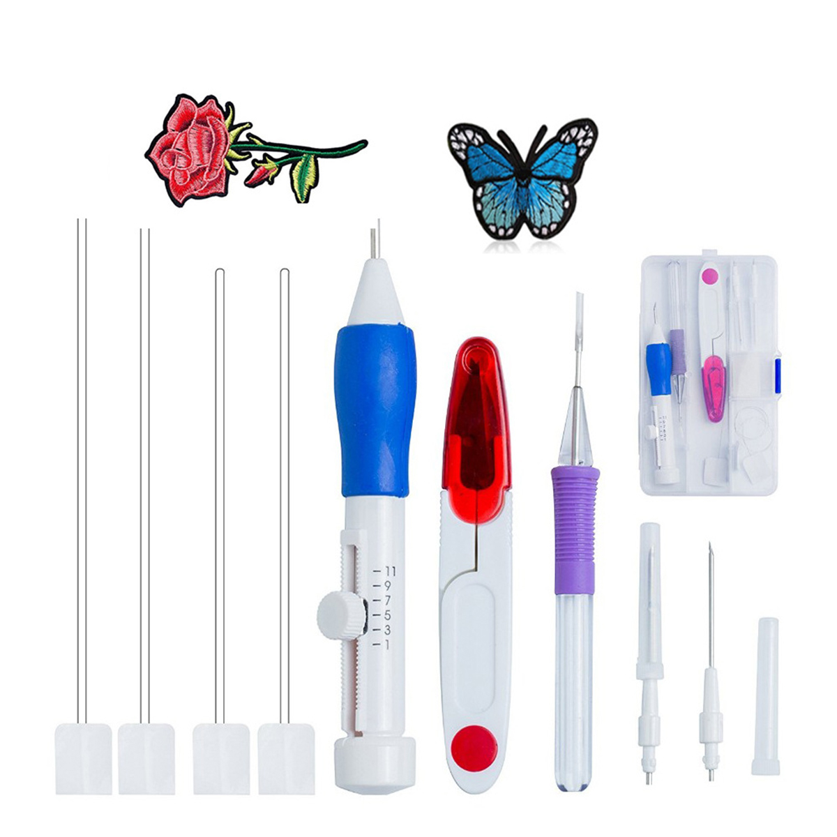 Magic DIY Embroidery Pen Set Knitting Sewing Tool Kit Punch Needle Adjustable