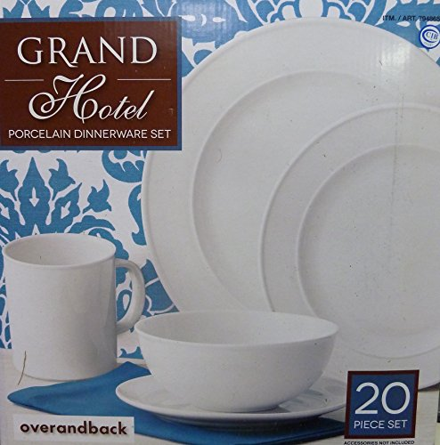 Over and Back Grand Hotel 20 Piece Dinnerware Set
