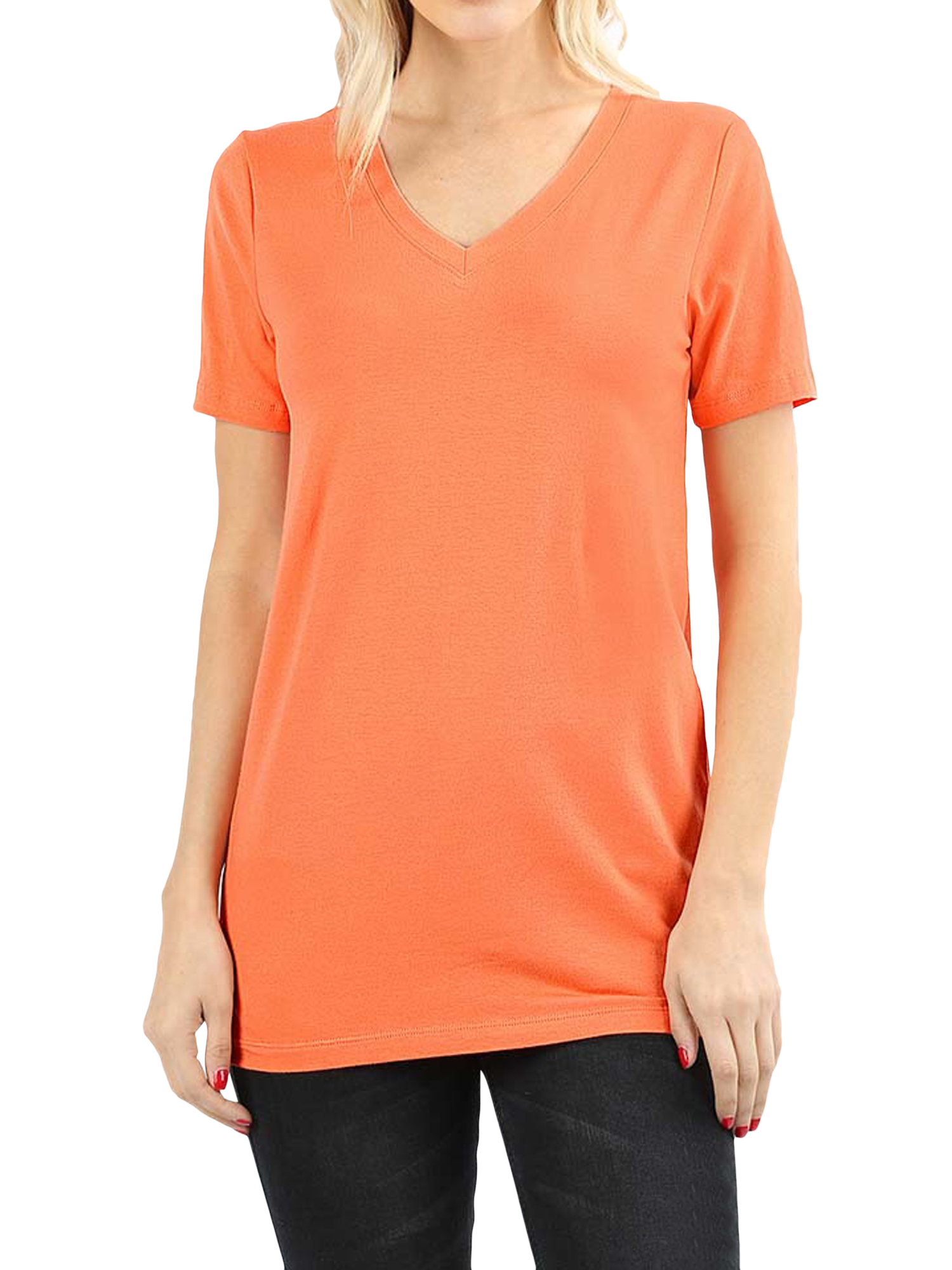 Criss Cross Strappy Front V-Neck Relaxed Fit Short Sleeve Tunic Basic Tee Top