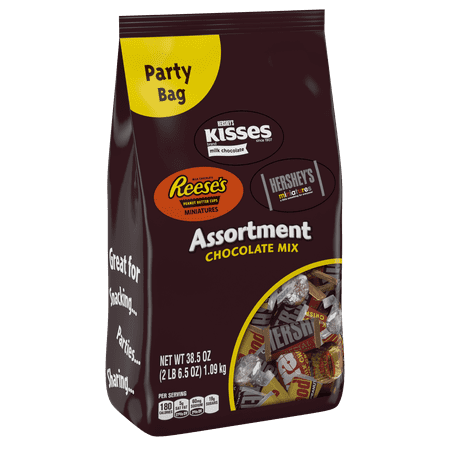 Hershey, Chocolate Candy Assortment Party Bag, 38.5 Oz - Halloween Candy Part 2