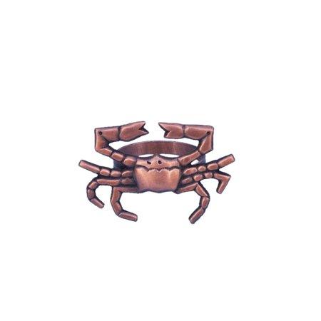 Antique Copper Crab Napkin Ring 3