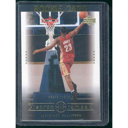 2003 Upper Deck #22 Above the Rim Lebron James Cavaliers NBA Rookie - Lebron James Nba