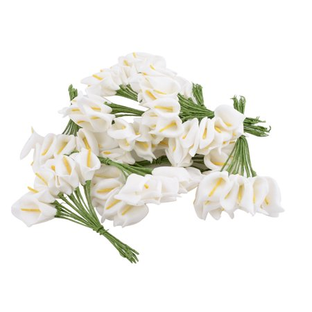 - Wedding Candy Box Note Book Gift Ornament Artificial Flower White 12pcs