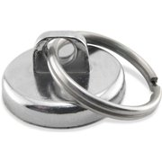 Master Magnetics Neodymium Super Magnet Assembly, 35 Lbs. Pull Chrome Plating, NA011200N