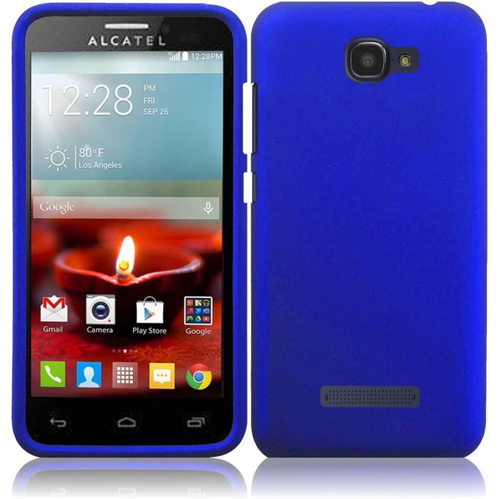 Hard Rubberized Case for Alcatel One Touch Fierce 2 Pop Icon 7040T - Blue