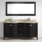 Bauhaus Bath Ridgeport 60'' Double Bathroom Vanity Set with Mirror