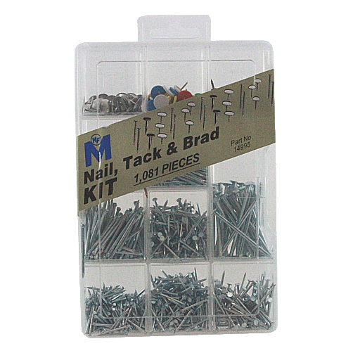 Midwest Fastener Corp Nail, Tack and Brad Assortment Kit