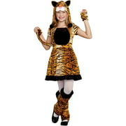 teeny tigress girls child halloween costume medium - Pin Up Girl Halloween Costumes 2017