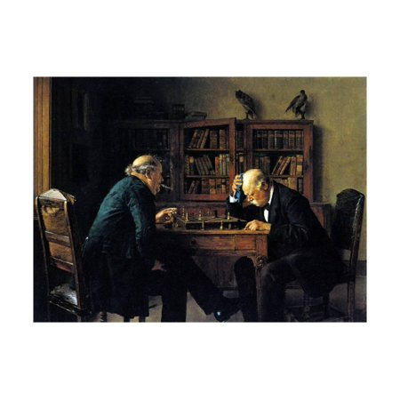 Chess Print (Chess Problem Print Wall Art By Isidor Kaufmann )
